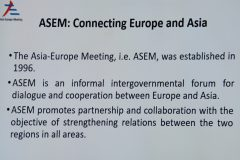 ASEM: connecting Europe and Asia