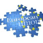 3D rendering of a puzzle with the words European Union