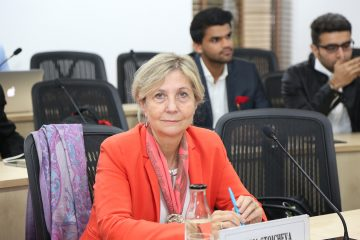 Prof. Maria Stoicheva at the 3rd Project meeting on 6 November 2019 at Delhi