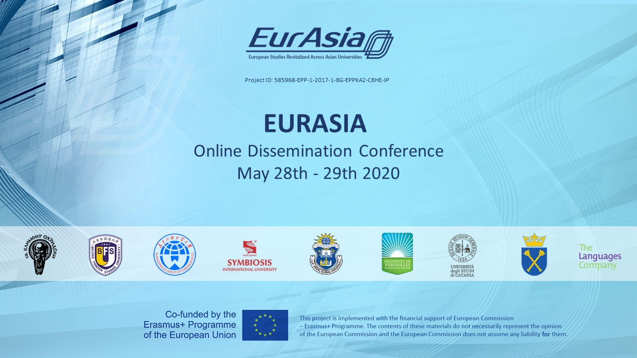 EURASIA Online Dissemination Conference May 28th - 29th 2020